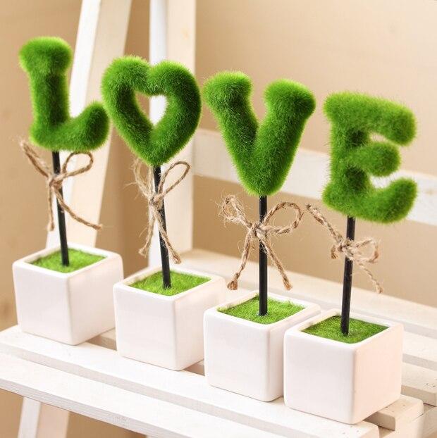 Love Bonnyclabber Bonsai Artificial Flower Living Room Decoration Green  Plant Decoration Simulation Items Valentine Day Gift
