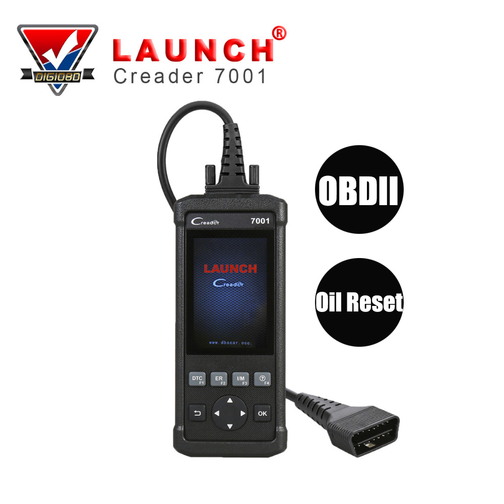 LAUNCH CReader 7001 OBD2/EOBD&CAN Code Reader Scanner Auto OBD 2 Diagnostic Scan Tool Portable Universal for Oil Reset Function u581 memo scanner auto diagnostic checker scan tool can obdii obd2 code reader free shipping