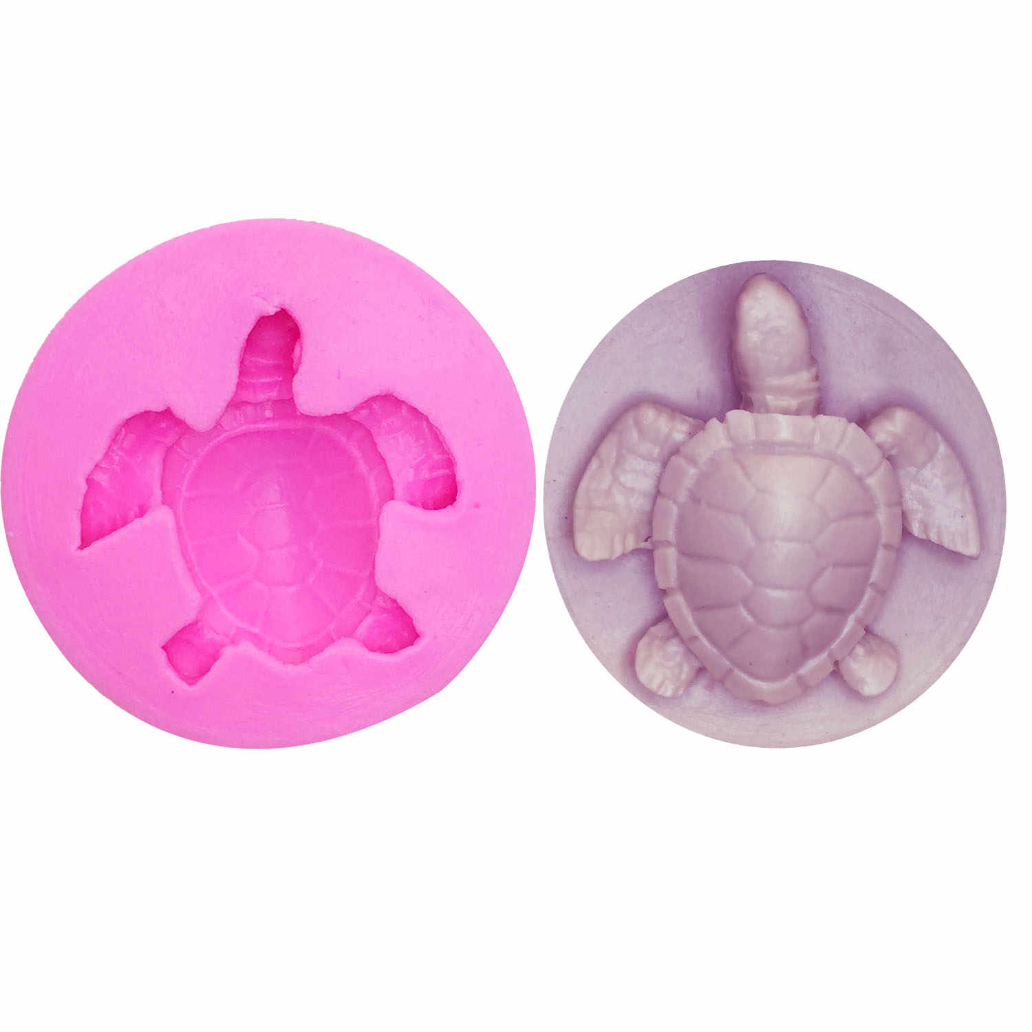 M1024 Sea turtle Shape Silicone Mold Cake Fondant Paste DIY Tortoise Silicone Decorating Mould Chocolate Gum Paste Soap molds