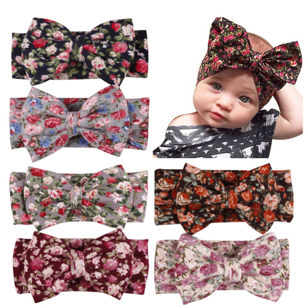 Headband Baby Bohemia Kids Girl Child Toddler Newborn Infant Floral Turban Bow Head Wrap Tie Headwear Hair Accessories
