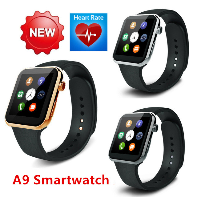 NEW Original Heart rate monitor & Smartwatch A9 Bluetooth Smart watch for  IOS Android  Smartphone Watc PK GT08 M09 A1 hot sale meafo f2 smart watch original bluetooth wrist smartwatch camera 1 22 heart rate for android ios smartwatch pk no 1 s