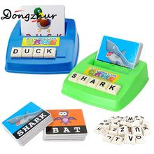 1 Set Pictures To Spell The Word Learning Baby Toy English Alphabet Card Games For Children English Games Kids Educational Toys(China)