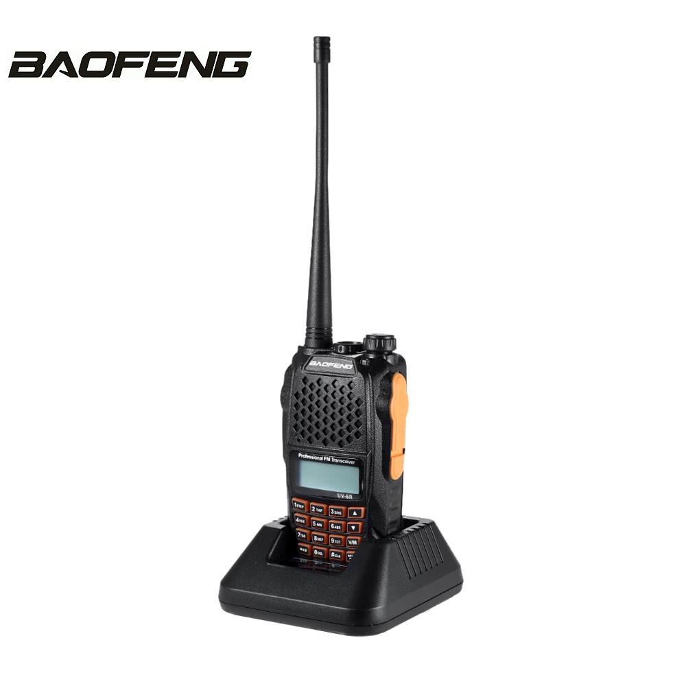 Baofeng UV-6R Jambon Émetteur-Récepteur VHF/UHF 136-174/400-520 MHz Double-Dand Deux Way Radio 5 W Puissance D'émission VOX voix transmission Radio