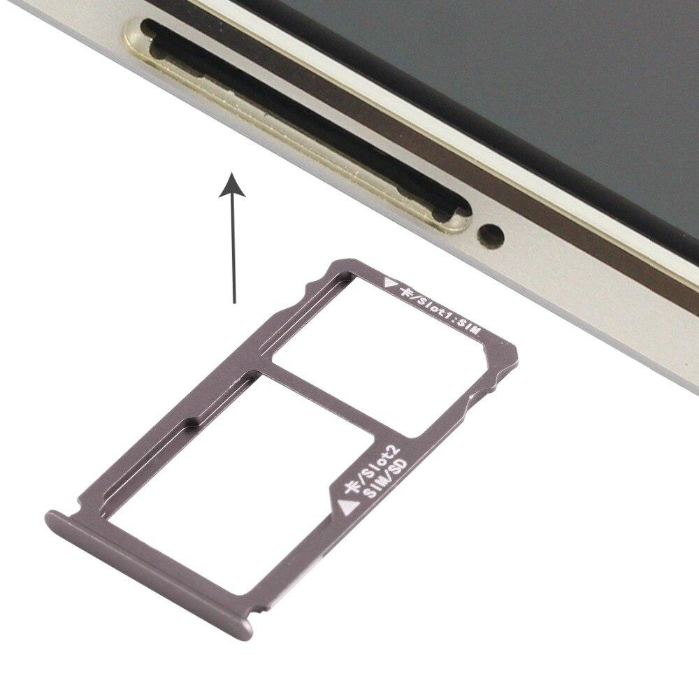 iPartsBuy for Huawei Mate S Nano SIM Card Tray + Nano SIM / Micro SD Card Tray