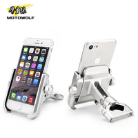 MOTOWOLF Universal Refit Motorcycle/Bicycle/Electric bike Phone Holder Cycling GPS Stand with USB Charger for 4 6.6 inch Mobile