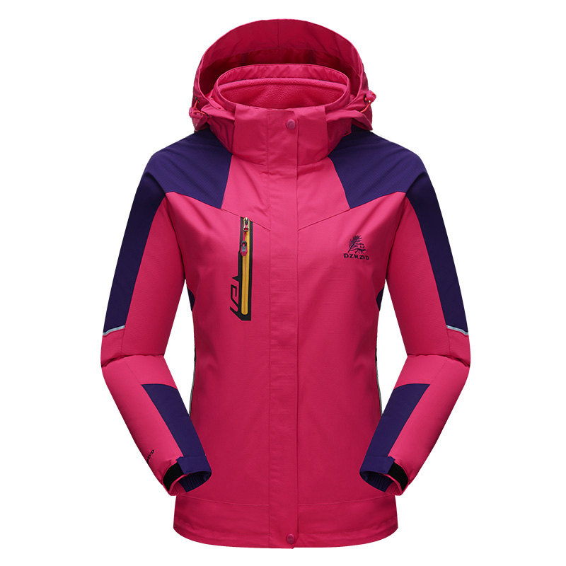 ФОТО Power Sport Climbing Outdoor Hiking Jackets 3in1 Women Waterproof Windbreaker Jacket Women Hiking Clothes For Hunting Ski Jacket