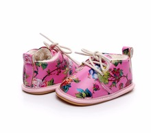 Floral Style Baby Moccasins Shoes
