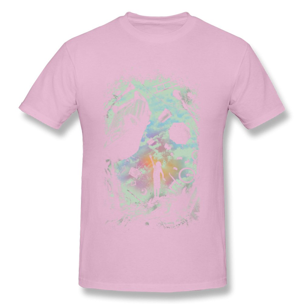 Gravity Play Special Short Sleeve Design T Shirts Cotton Fabric O Neck Mens Tops Shirts Casual Top T-shirts Summer Gravity Play pink