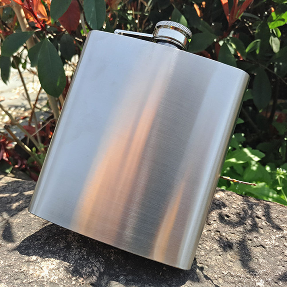 60 pcs/lot Portable 18oz Stainless Steel Hip Flasks Liquor Whisky Alcohol Flask with Screw Cap