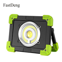 Portable LED Work Light 20W Rechargeable Outdoor COB Flood Light 6000mAh Power Bank for Hiking Working Car Repairing Workshop