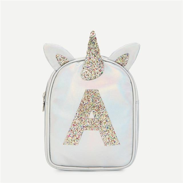 54f2e1eb82 SHEIN Silver Highstreet Fashion Girls Ear Design Glitter Backpack Women  Letter Print New Modern Bags