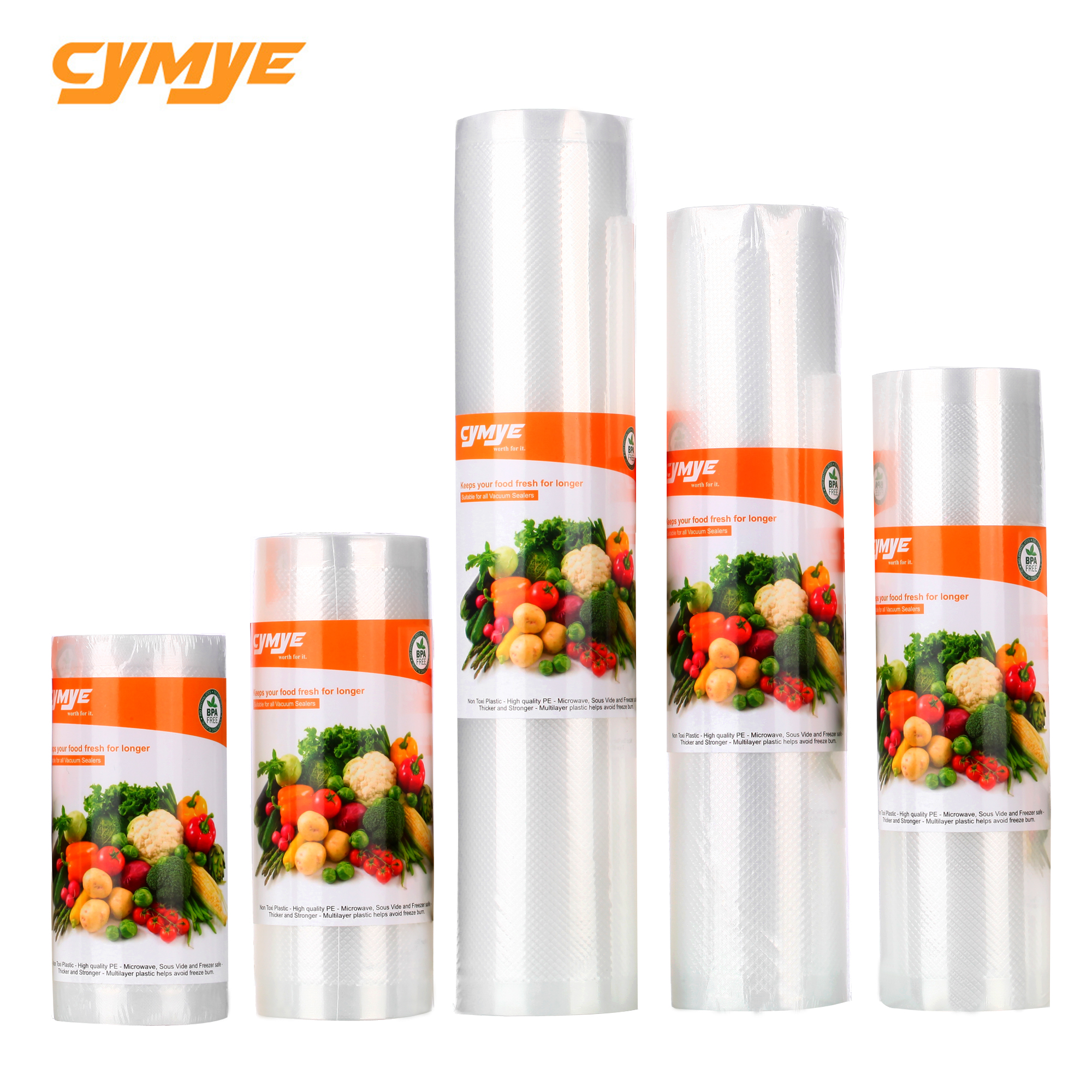 Cymye Food Saver Storage Plastic Bags For Food Vacuum Sealer