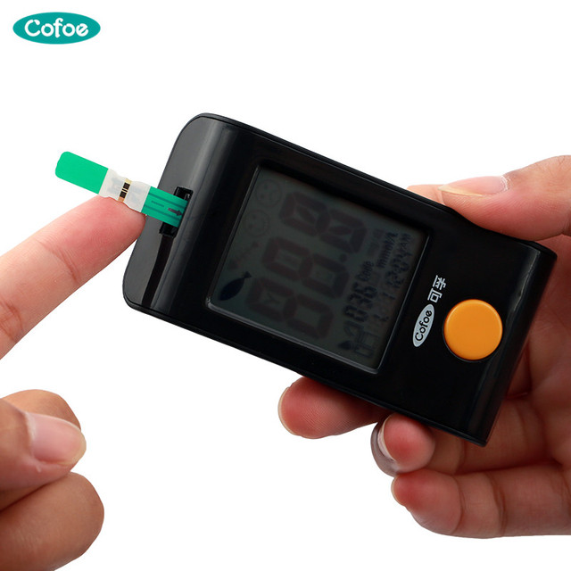 Cofoe Yiling Glucometer & Test strips & Lancets Needles Household Medical Glycuresis Blood Glucose Meter Blood Sugar Monitor