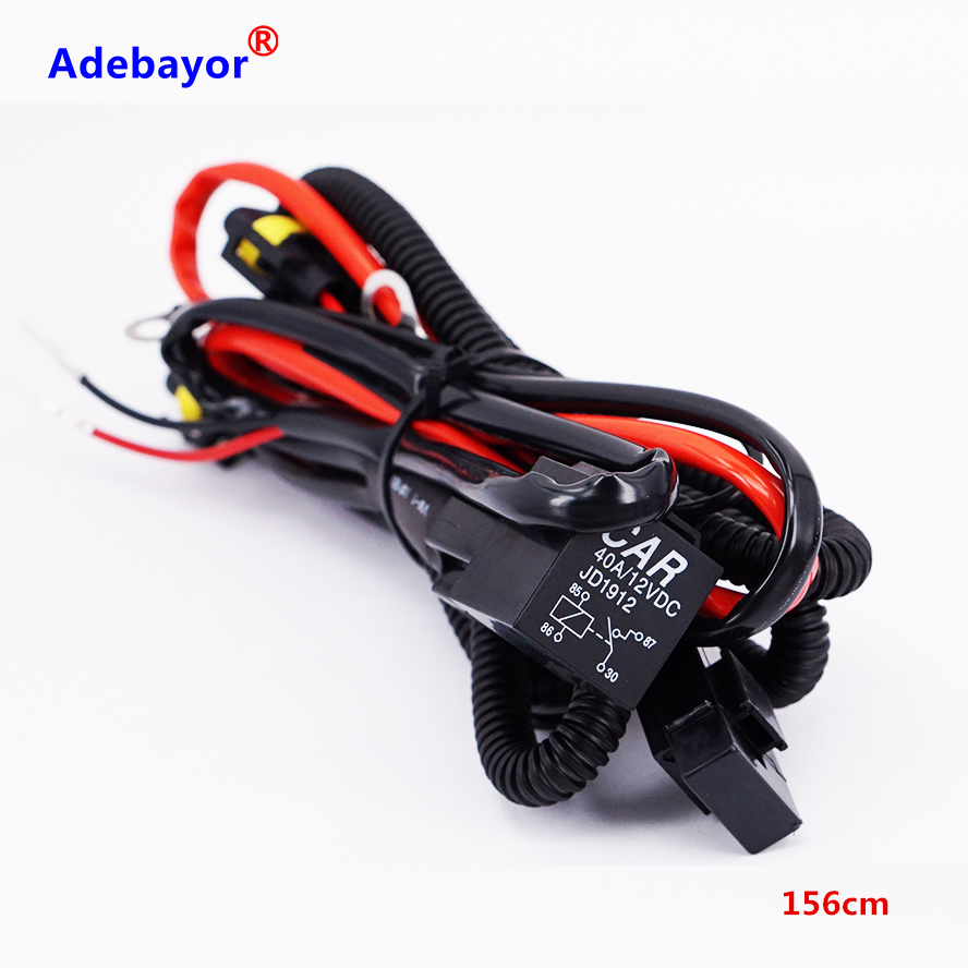 Led Drl Relay Wiring Harness Voltage Booster 9005 Diagram Hid 1x Big Promotion H11 Wire Adapter Extension