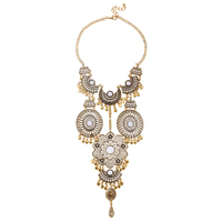 Hot Selling European Famous Brand Za Luxury Vintage Necklace For Women 2015 Bohemian Turkish Jewelry