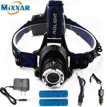 RU 3800LM Cree XM-L T6 Led Headlamp Zoomable Headlight Waterproof Head Torch flashlight Head lamp Fishing Hunting Light