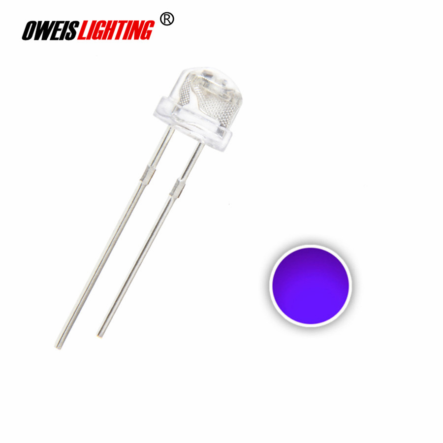 100pcs 5mm Green Straw Hat LED Wide Angle Water Clear Leds Light Free Shipping