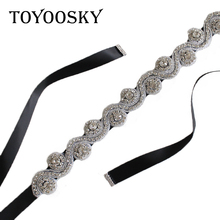 Women Wedding Belts for Women Black Red Crystal Pearls Handmade Bridal Belt Sash White Ribbon for Bride Dress Women White Belt цена