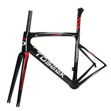 TOSEEK Carbon Road Frame 700C 44/49/52/54/56/58 mm Triathlon Carbon Bike Frame With Fork and Seatpost Bike Parts 2017 bike parts time trial carbon bicycle frame carbon road bike frame carbon tt frameset for 700c carbon bike triathlon