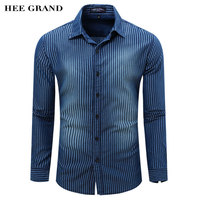 Men S Casual Style Full Sleeve Shirt 2016 New Arrival Hot Sale Striped Shirt Turn Down