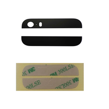 Free Shipping Top and Bottom Glass For iPhone 5S Spare Parts Replacement with 3M adhesives Top Quality Brand New