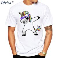 2017 Dabbing Unicorn Animal 3d T Shirt Men Print Unicorn Panda Cat Funny T Shirt Hip