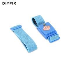 DIYFIX Anti-static bezprzewodowy pasek na nadgarstek elastyczna opaska z zamienne przedłużyć pasek do wrażliwych urządzeń elektronicznych narzędzia do naprawy