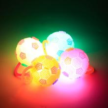 HobbyLane LED Flashing Football 1PCs Shape Spiky Bouncy Ball with Rope Sound Toy for Kids Random Color