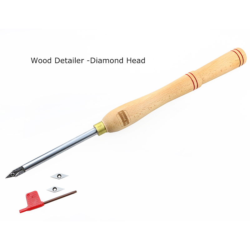 Wood Turning Lathe Tool for Wood Roughing Finishing and Detailing Matched with 2 pcs Carbide Inserts