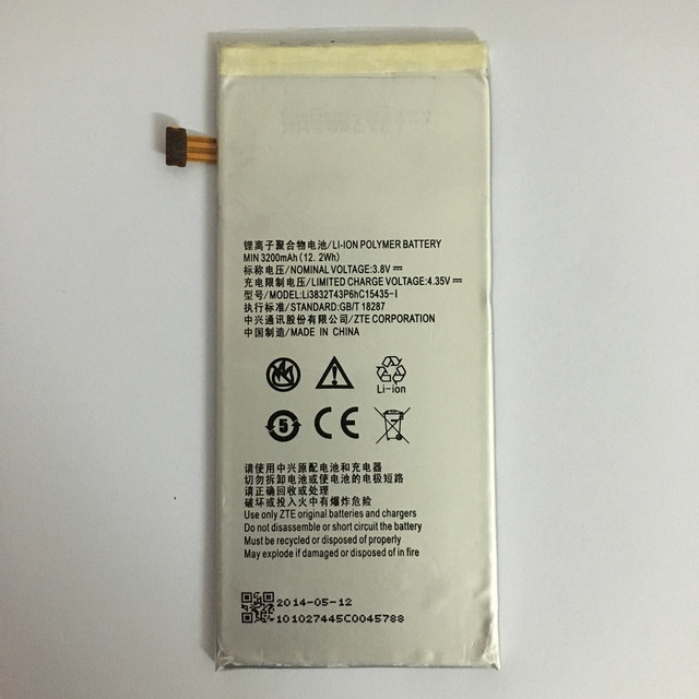 3200mAh Li3832T43P6hC15435-I For ZTE Grand M901C / Grand Memo II / Z787/ Grand X MAX / Lever / Z936L / Lever LTE Z936L Battery