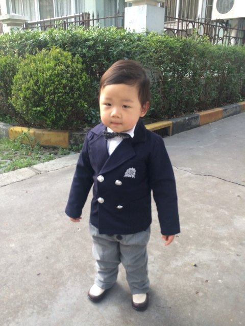 Online Shop 2-8 age 4 pieces fashion wedding suits for baby boys ...