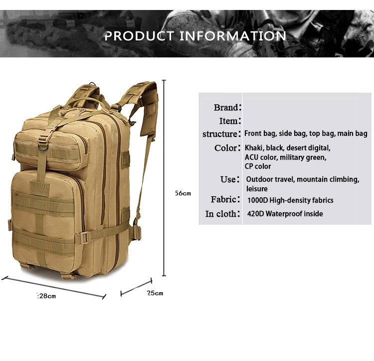 tactical backpack mochilas de viagem ao ar