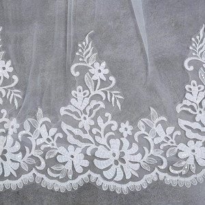 Image 5 - 3 M Wedding Veil Cathedral One Layer Lace Appliqued Long Bridal Veils With Comb Woman Marry Gifts 2018 New hot Accessories