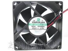 Ventilateur axial à grand flux d'air, 24V, 0,15 a, 80x80x25, RDH8025S, livraison gratuite