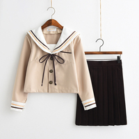 80f0d4e536 2019 Japanese Pink White JK Sets School Uniform Women Novelty Sailor Suits  Uniforms Girls Sakura Autumn