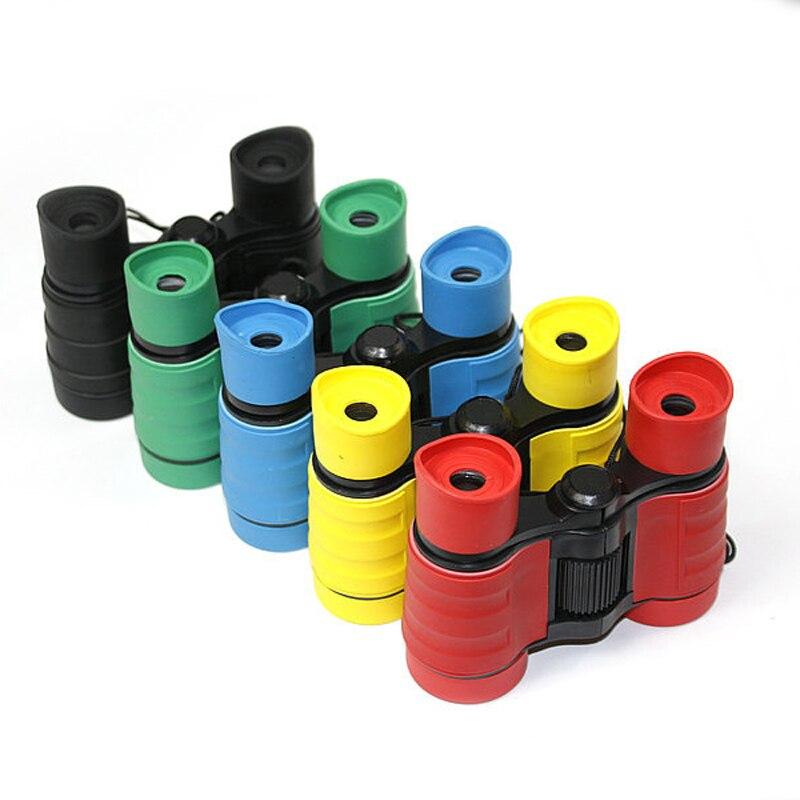 Новые 4x30 Пластик детей бинокль карман Размеры телескоп maginification для детей игр на открытом воздухе Обувь для мальчиков Игрушечные лошадки подарок