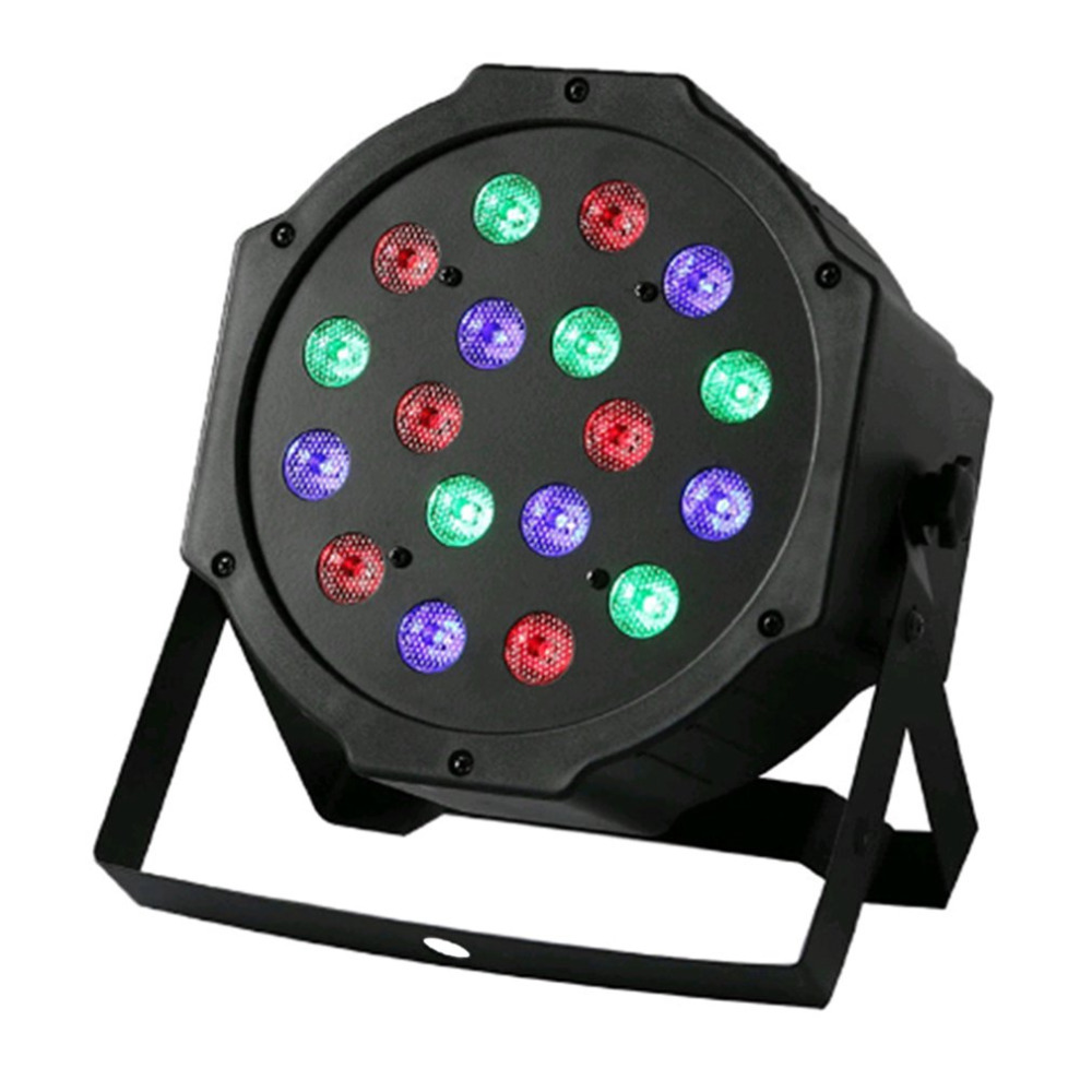 Professional LED Stage Lights 18 LED RGB PAR DMX Stage Lighting Effect DMX512 Master-Slave Flat for DJ Disco Party KTV
