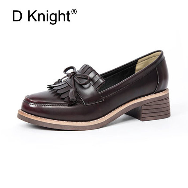 2018 New Spring Party Shoes Women Oxfords Flat Slip-on Fashion Platform With Fringe Bowtie British Style Shoes Woman Loafers 2018 brand new spring men slip on shoes breathable shoes british style shoes loafers genuine leather flat shoes wa 03
