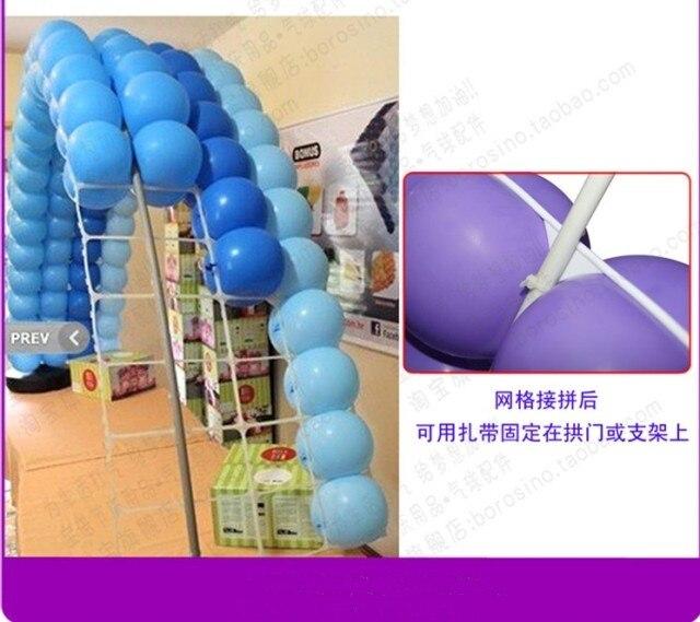 10tk Latex balloonvõrguga plastist 9 auguga õhupalli õhupallid - Pühad ja peod - Foto 6