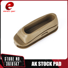 Element Tactical A K 47 Recoil Pad Stock Butt Shockproof Silicone Rubber Recoil Pad Hunting Accessories Black Dark Earth OT0401