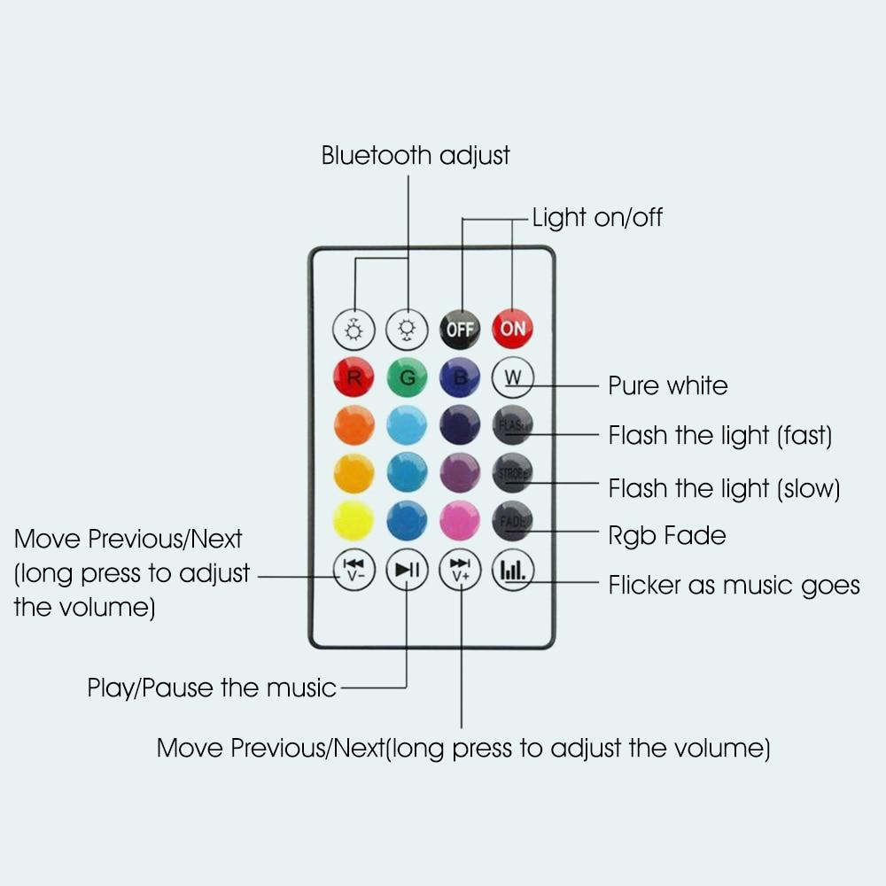 VONTAR E27 B22 Wireless Bluetooth Speaker+12W RGB Bulb LED Lamp 110V 220V Smart Led Light Music Player Audio with Remote Control 5