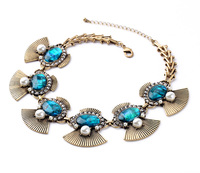 New Arrival Hot Sale Wholesale Retail Dazzle Shell Paper Green Pendants tidy Turkey Necklace Jewelry