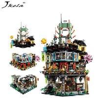 Совместимость с legoingly NinjagoINGly город модель здания модульная строительство камни подростков игрушечные лошадки Кирпичи совместимы legoINGS star