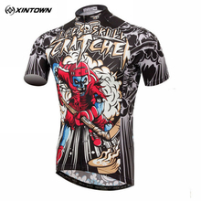 XINTOWN Hockey Skull Riding Team Wear Men Bike Sport Clothing Cycling Wear Jersey Bicycle Tops Shirts