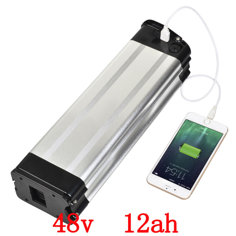US EU No Tax hot selling e-Bike lithium 48V 12Ah  battery pack with USB port 2A charger for 48V 750W Electric Bicycle eu us free customs duty 48v 550w e bike battery 48v 15ah lithium ion battery pack with 2a charger electric bicycle battery 48v