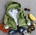 new 2016 autumn fashion long sleeve boys long coat kids spring autumn windcoat boys dust coat with hood