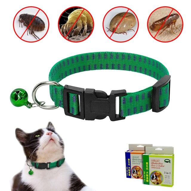 Cane gatto Collare Antipulci Collare di Nylon Anti Parassita Delle Pulci e Zecch