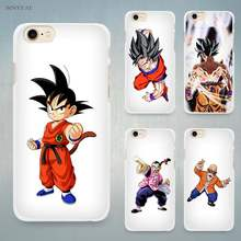 Dragon Ball z super Goku Hard White Cell Phone Case Cover for Apple iPhone 4 4s 5 5C SE 5s 6 6s 7 8 Plus X(China)