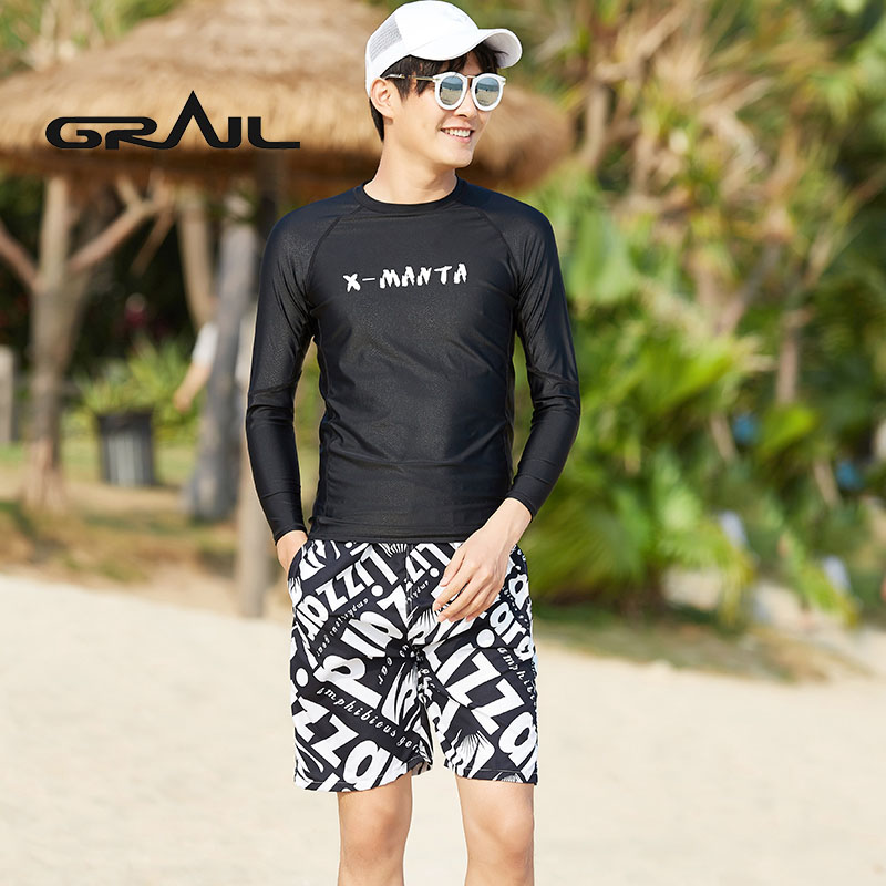 GRAIL Couple Suit Fastskin Surf Boarding Wetsuit Men Surf Diving long sleeved beach sports Sun Protection swim suit LS-18658 extreme sports surf