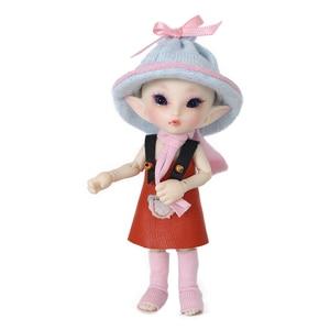 Image 5 - FreeShipping Fairyland FL Realpuki Roro Doll BJD 1/13 Pink Smile Elves Toys for Girl Tiny Resin Jointed Doll
